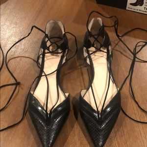 Zara Lace-Up Pointed Toe Flats